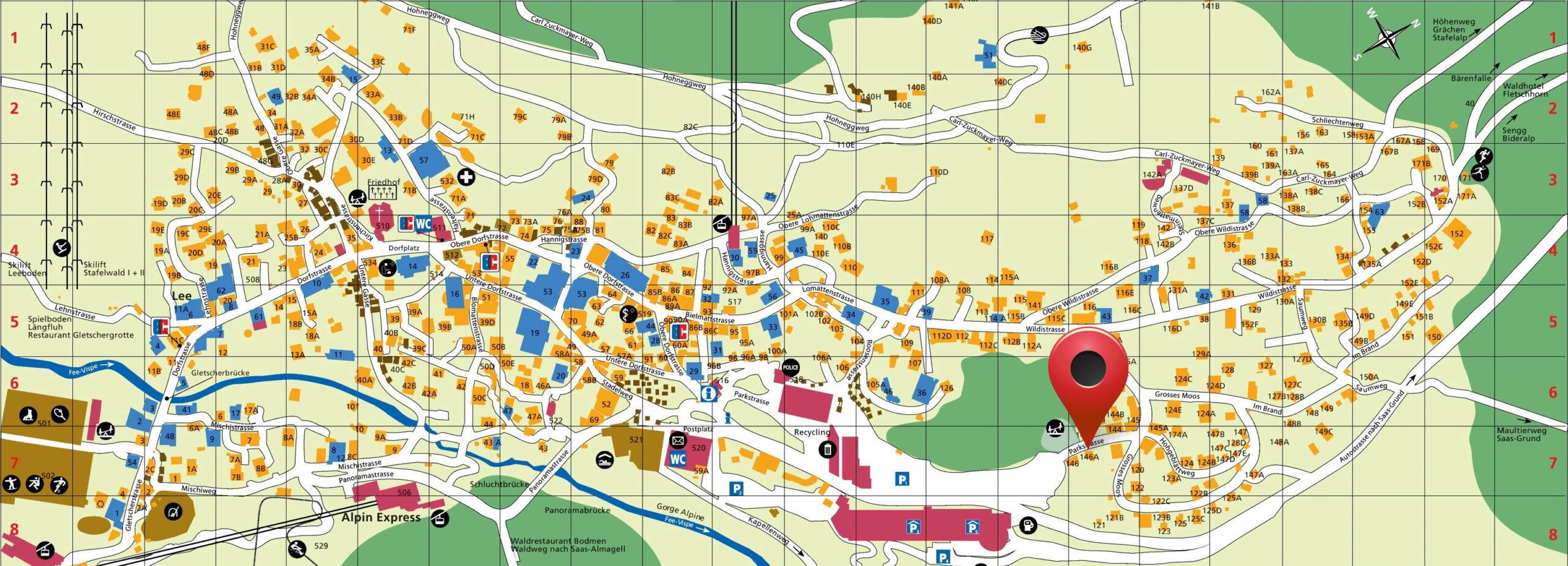 Saas Fee Map